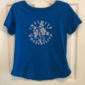 "Old Navy ""Infinite Possibility"" blue tee-shirt"